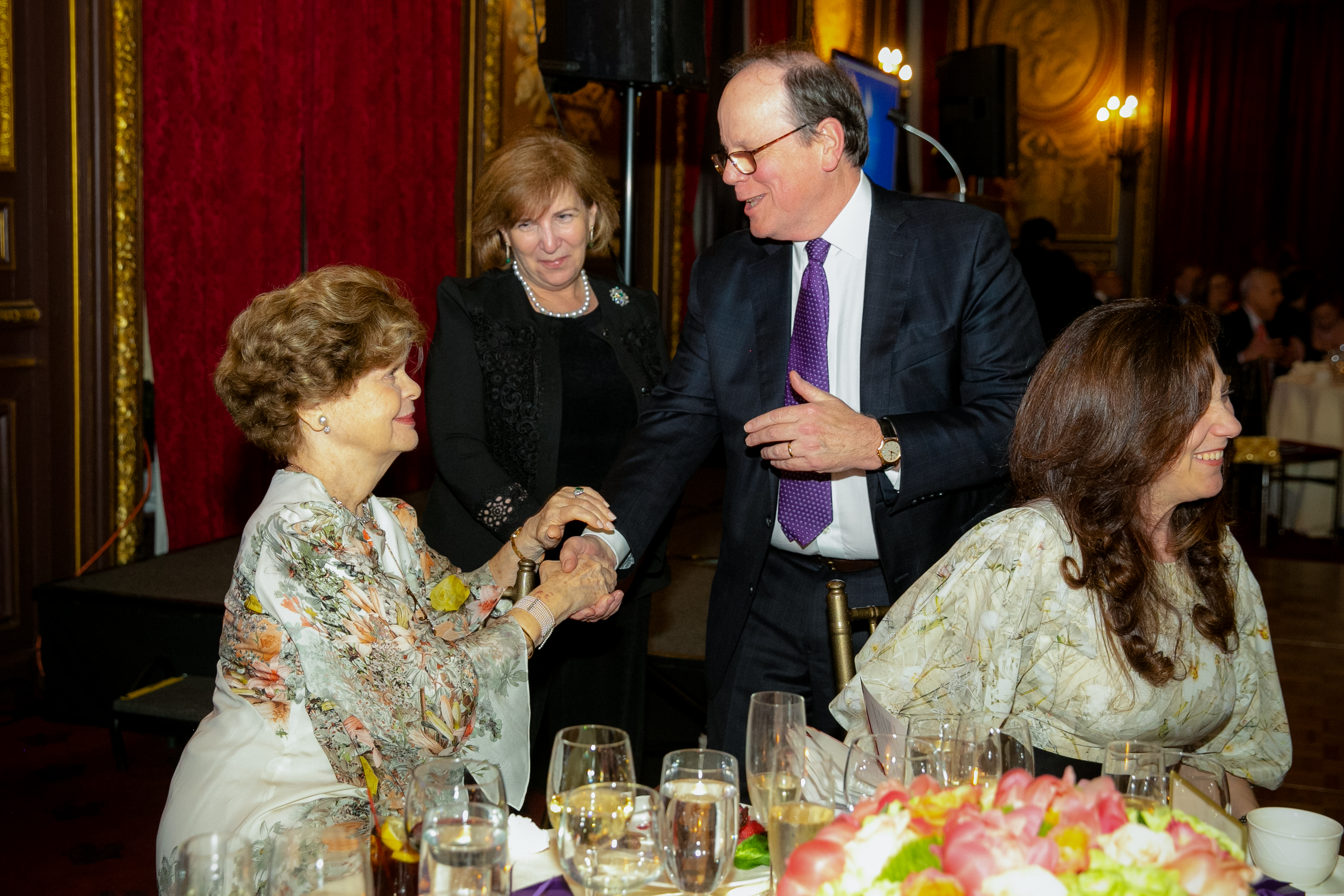 Dr. Legato greeting a guest at the 2019 Gala Event