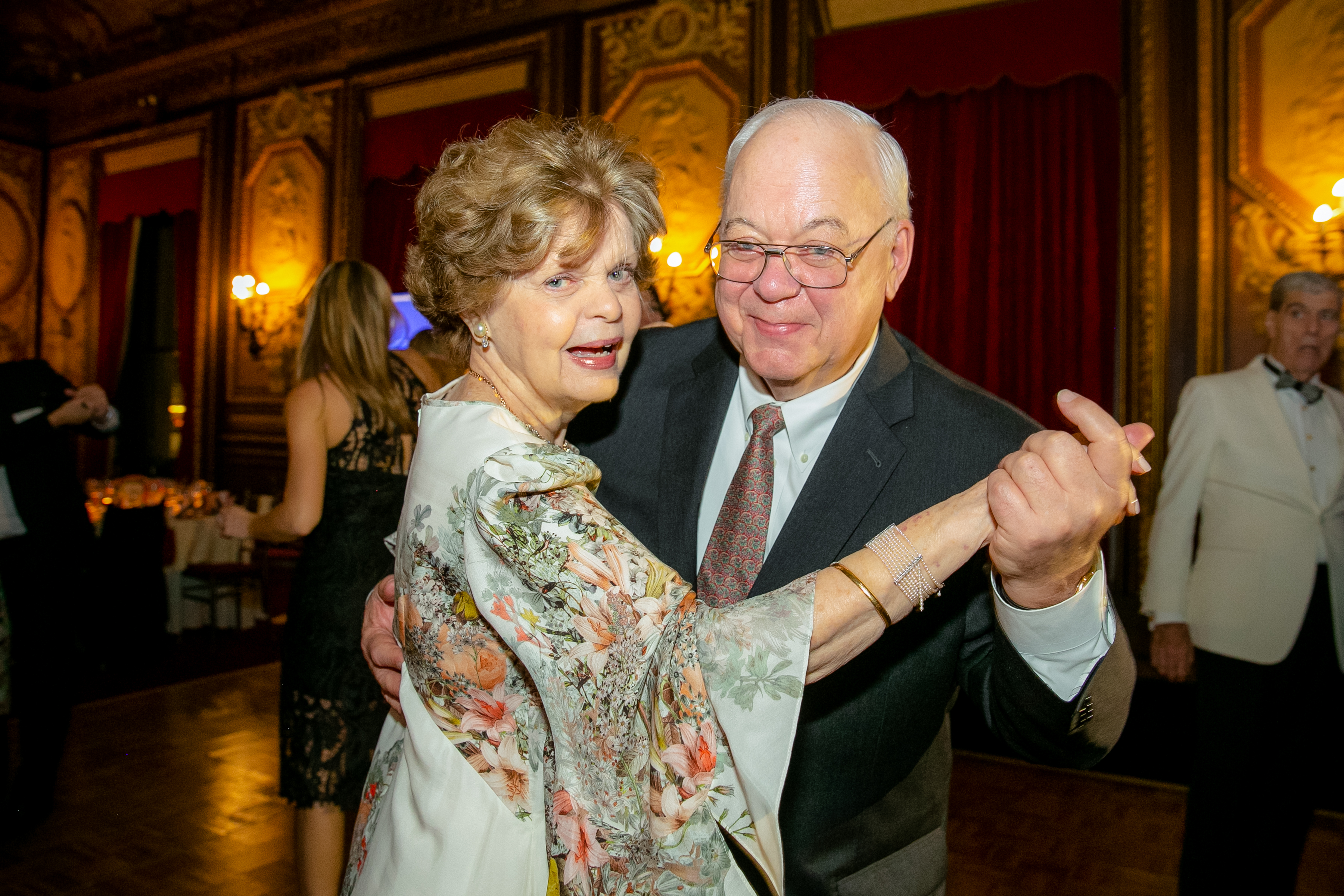 Dr. Legato dancing with a guest during the Gala