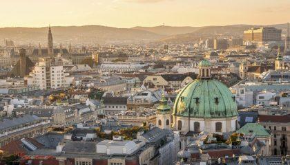 Vienna city birds eye view