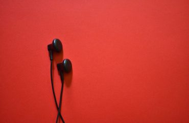 Black set of earphone
