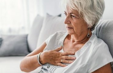 women suffering from chest pain